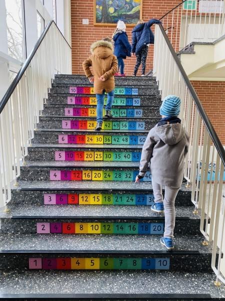 Unser Treppenhaus als Lernort